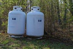 Réservoirs à gaz résidentiels Photo libre de droits