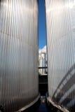 Réservoirs argentés Image libre de droits