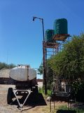 Réservoirs d'eau image libre de droits