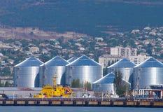 Réservoirs d'huile Photo libre de droits