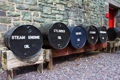 Réservoirs d'huile images stock