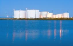 Réservoirs de carburant pour réacteurs - aéroport de San Francisco Image stock