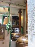 Réservoirs de cuivre de brasserie, Osnabrück Allemagne Image stock