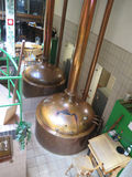 Réservoirs de cuivre de brasserie, Osnabrück Allemagne Photo libre de droits