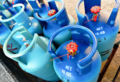 Réservoirs de propane Image libre de droits