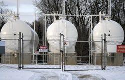 Réservoirs de propane Images stock