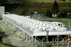 Réservoirs de refroidissement de pouvoir géothermique Photos libres de droits