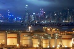 Réservoirs de stockage d'huile Images libres de droits