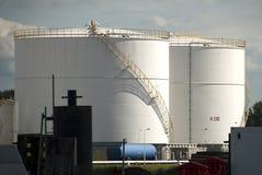 Réservoirs de stockage de pétrole à Amsterdam Photos stock