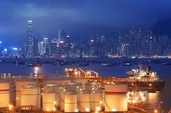 Réservoirs de stockage de pétrole Images libres de droits