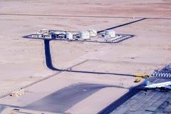 Réservoirs de stockage de pétrole dans l'aéroport de Hurghada Égypte Photos libres de droits