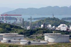 Réservoirs de stockage industriels Image libre de droits
