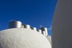Réservoirs de vin Images libres de droits