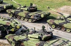 Réservoirs militaires photo libre de droits