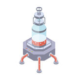 Réservoirs pour l'industrie alimentaire de liquide, de produit chimique ou Dirigez l'illustration dans la projection isométrique, illustration de vecteur