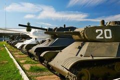 Réservoirs soviétiques de la deuxième guerre mondiale Photo stock