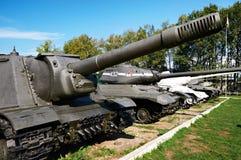 Réservoirs soviétiques de la deuxième guerre mondiale Photo libre de droits