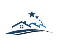 Résidence à la maison d'étoile Photo stock