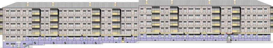 Résidence de logement d'image de vecteur Illustration Libre de Droits