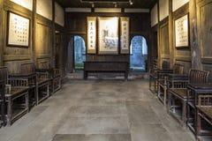 Résidence de M. Zhou dans la ville antique du barrage de Yao, Sichuan, porcelaine images stock