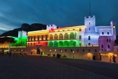Résidence de palais royal de prince du Monaco, l'Europe photos libres de droits