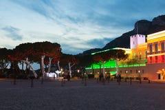 Résidence de palais royal de prince du Monaco, l'Europe photo stock