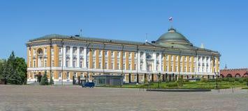 Résidence de président de palais de sénat de Kremlin à Moscou, Russie photos libres de droits