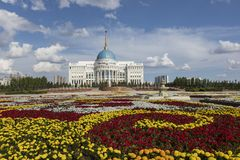 Résidence du président de la République du Kazakhstan Ak Orda à Astana images stock