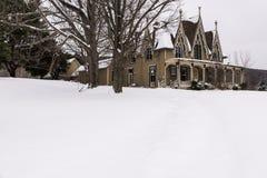 Résidence historique abandonnée - Ithaca, New York photographie stock libre de droits