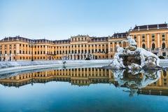 Résidence impériale d'été de palais de Schonbrunn à Vienne photos libres de droits