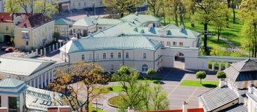 Résidence lithuanienne de président - palais blanc image stock