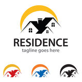 Résidence Logo Template Design Vector Images libres de droits