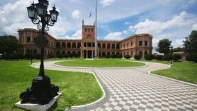 Résidence principale de Palacio de los Lopez de gouvernement et de président du Paraguay Asuncion, Paraguay banque de vidéos