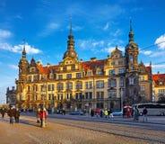 Résidence royale de château de l'Allemagne Dresde images stock