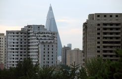 Résidences coréennes du nord 2013 Photo stock