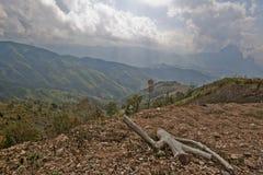 Résident un chemin au capital du Laos Photo stock