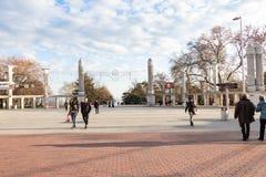 Résidents et touristes Images libres de droits