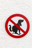 Résidus de chien de signe interdits photo libre de droits