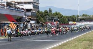 RÉSISTANCE 24 HEURES DE RACE DE MOTO - CATALUNYA Photo stock