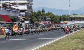 RÉSISTANCE 24 HEURES DE RACE DE MOTO - CATALUNYA Image stock