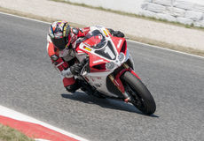 RÉSISTANCE 24 HEURES DE RACE DE MOTO - CATALUNYA Photographie stock libre de droits