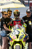 RÉSISTANCE 24 HEURES DE RACE DE MOTO - CATALUNYA Images libres de droits