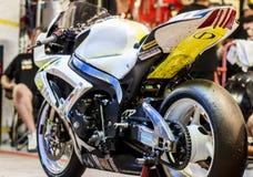 RÉSISTANCE 24 HEURES DE RACE DE MOTO - CATALUNYA Images stock