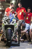 RÉSISTANCE 24 HEURES DE RACE DE MOTO - CATALUNYA Photographie stock