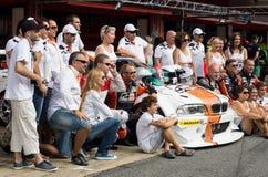RÉSISTANCE 24 HEURES DE RACE DE VOITURE - BARCELONE Photographie stock libre de droits