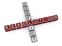 Résolution de conflits Images stock