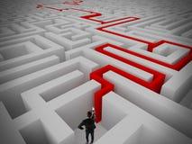 Résolution de labyrinthe Photographie stock libre de droits