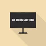 résolution 4K illustration de vecteur