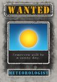 Résolution voulue de Poster Illustration High de météorologiste illustration de vecteur