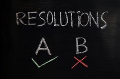 Résolutions Images stock